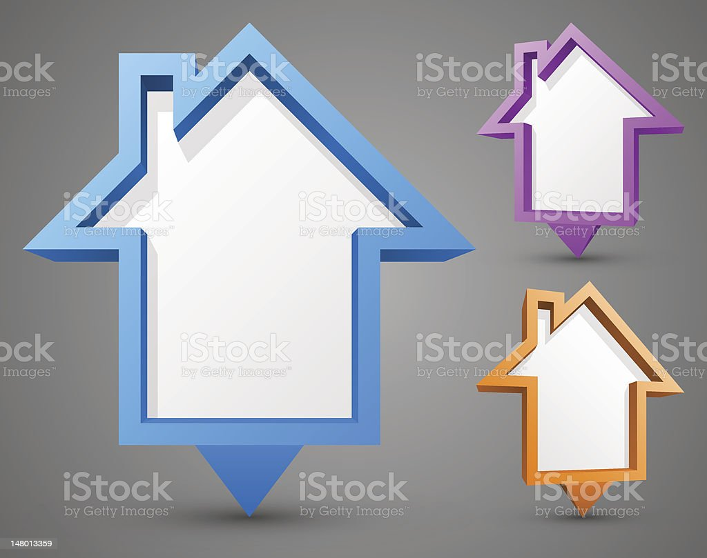 Abstract house billboards royalty-free stock vector art
