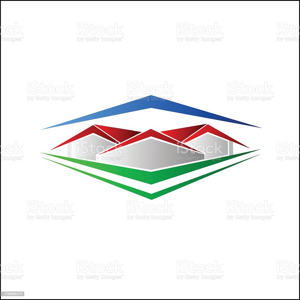 Abstract House symbol royalty-free stock vector art