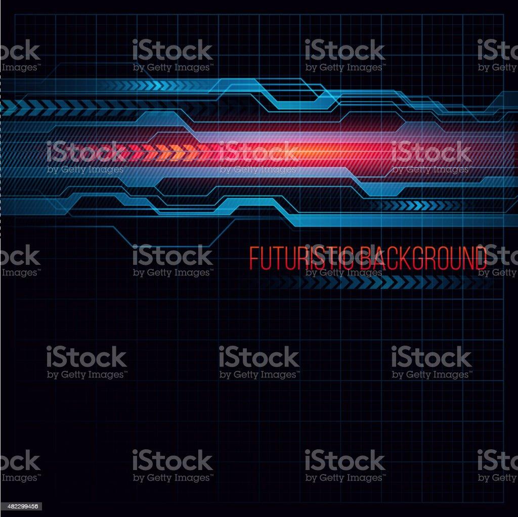 Abstract  HUD futuristic background. Vector illustration vector art illustration