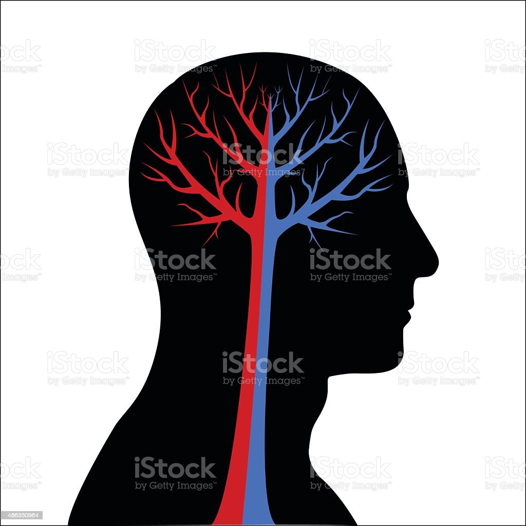 Abstract Human Brain royalty-free stock vector art