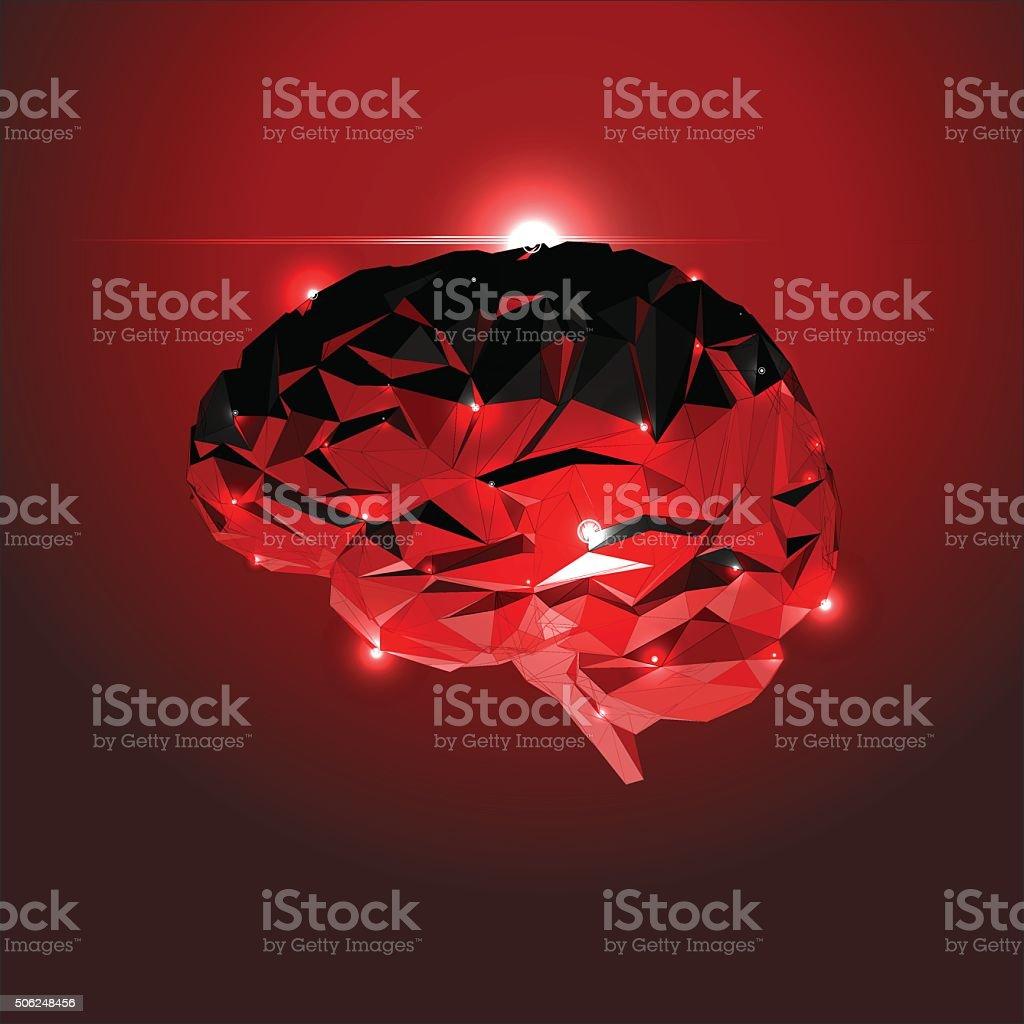 Abstract Human Brain vector art illustration