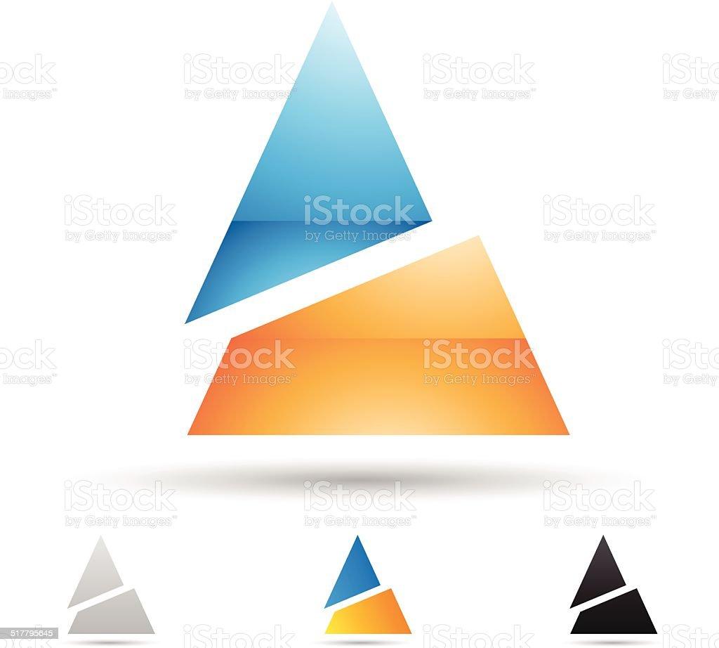 Icône abstraite pour la lettre A stock vecteur libres de droits libre de droits