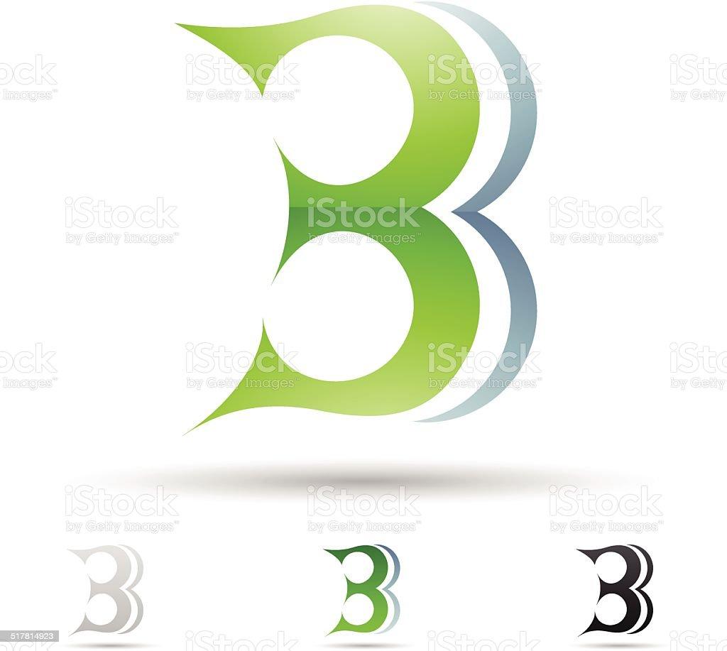 Icône abstraite pour la Lettre B stock vecteur libres de droits libre de droits