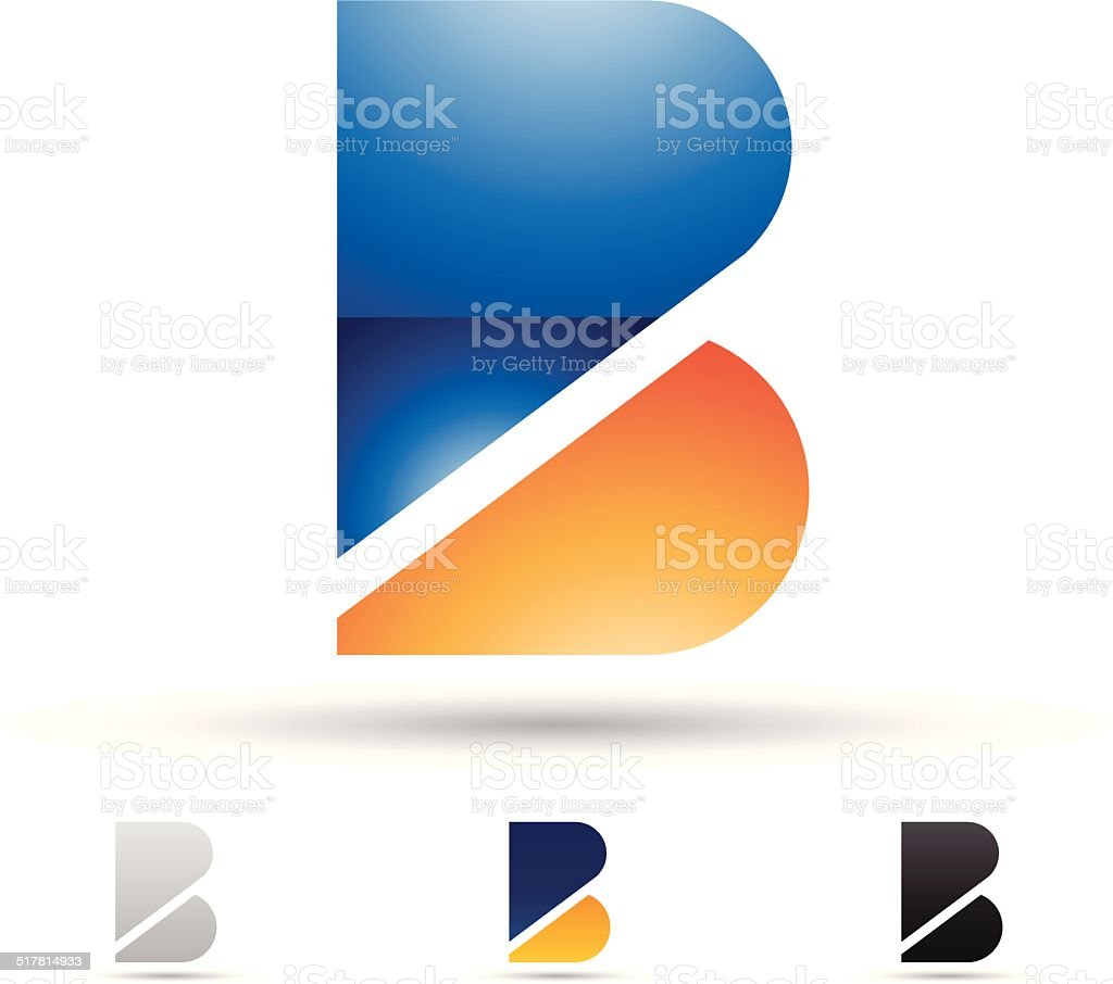 Abstract icon for letter B vector art illustration