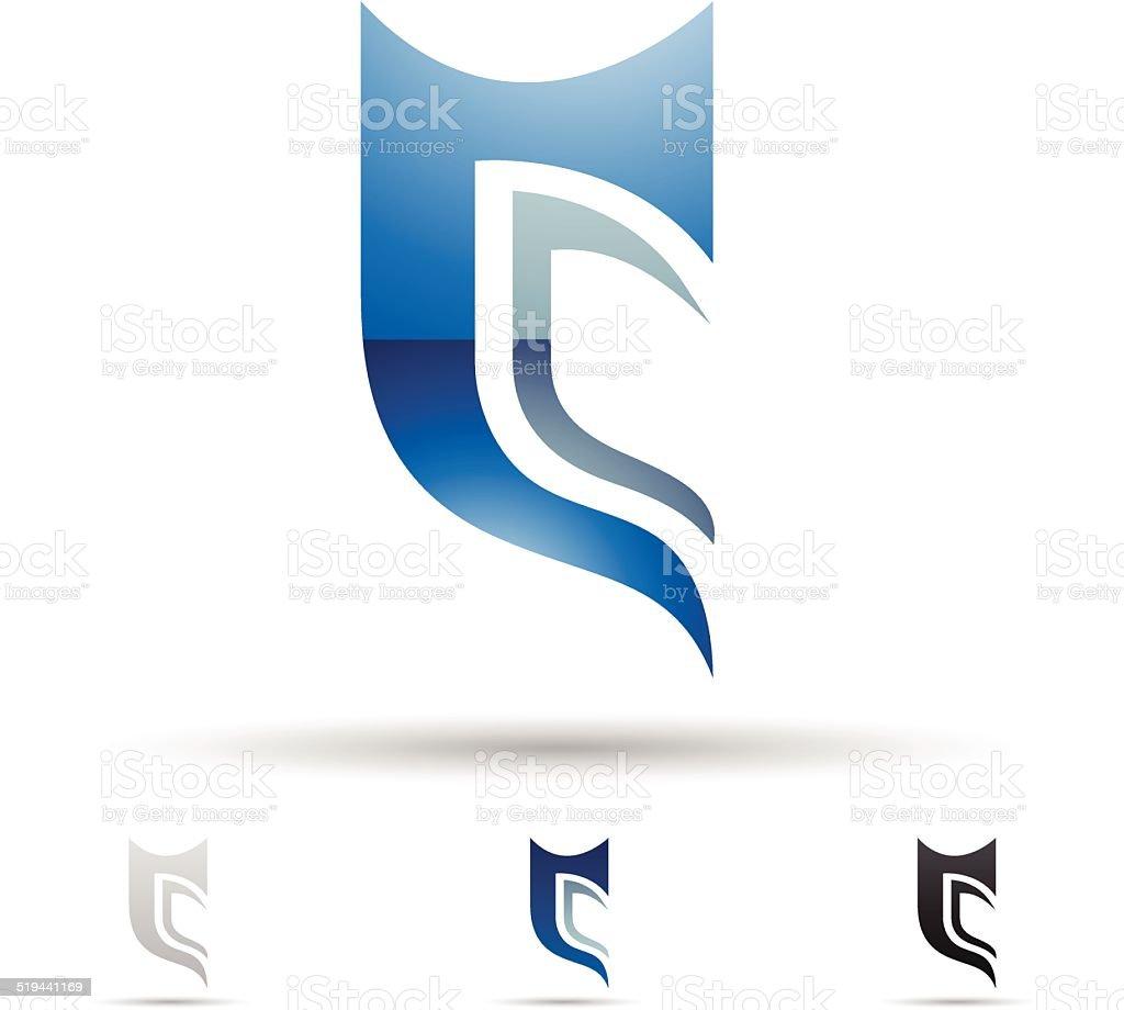 Icône abstraite pour la Lettre C stock vecteur libres de droits libre de droits