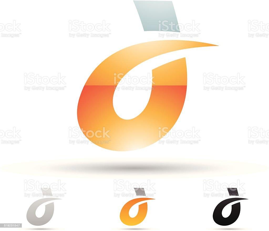 Icône abstraite pour la Lettre D stock vecteur libres de droits libre de droits