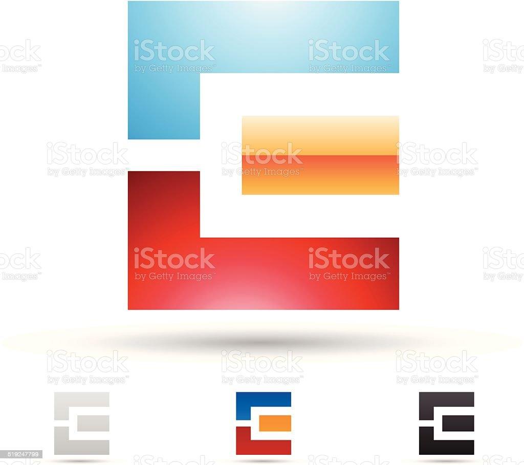 Icône abstraite pour la Lettre E stock vecteur libres de droits libre de droits