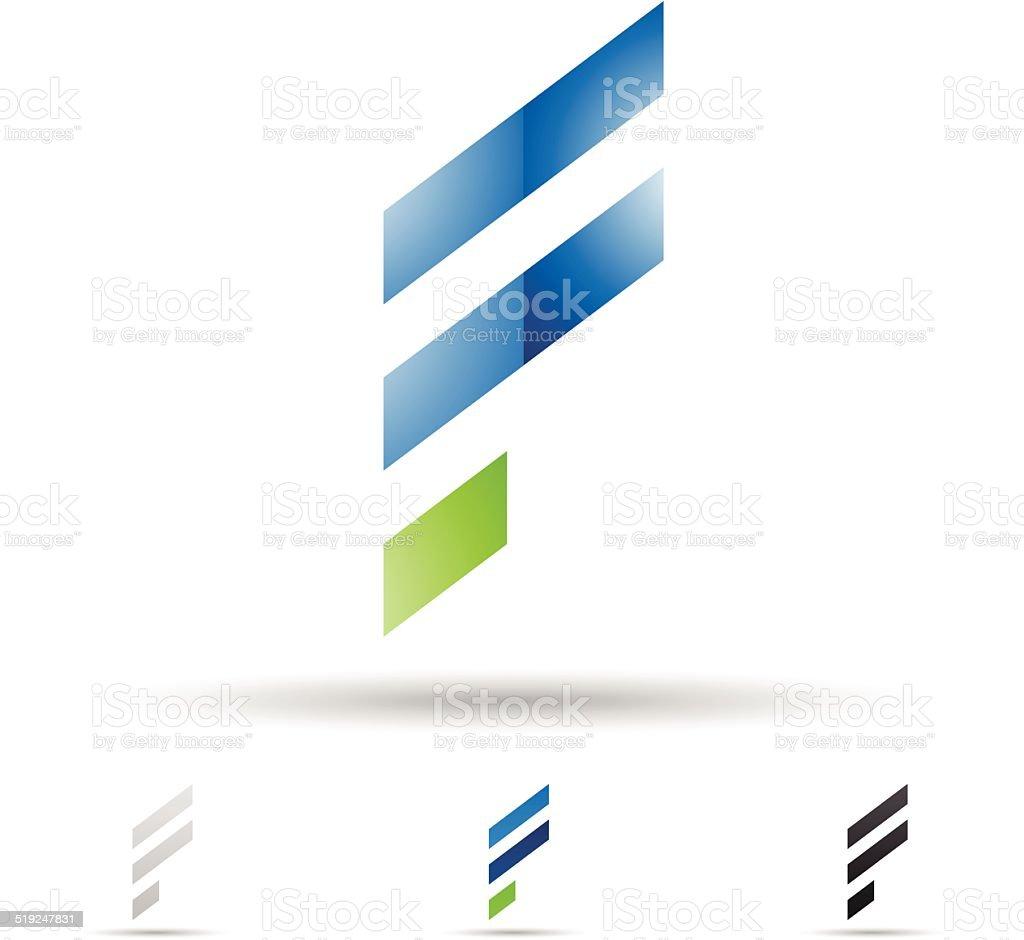 Icône abstraite pour la Lettre F stock vecteur libres de droits libre de droits
