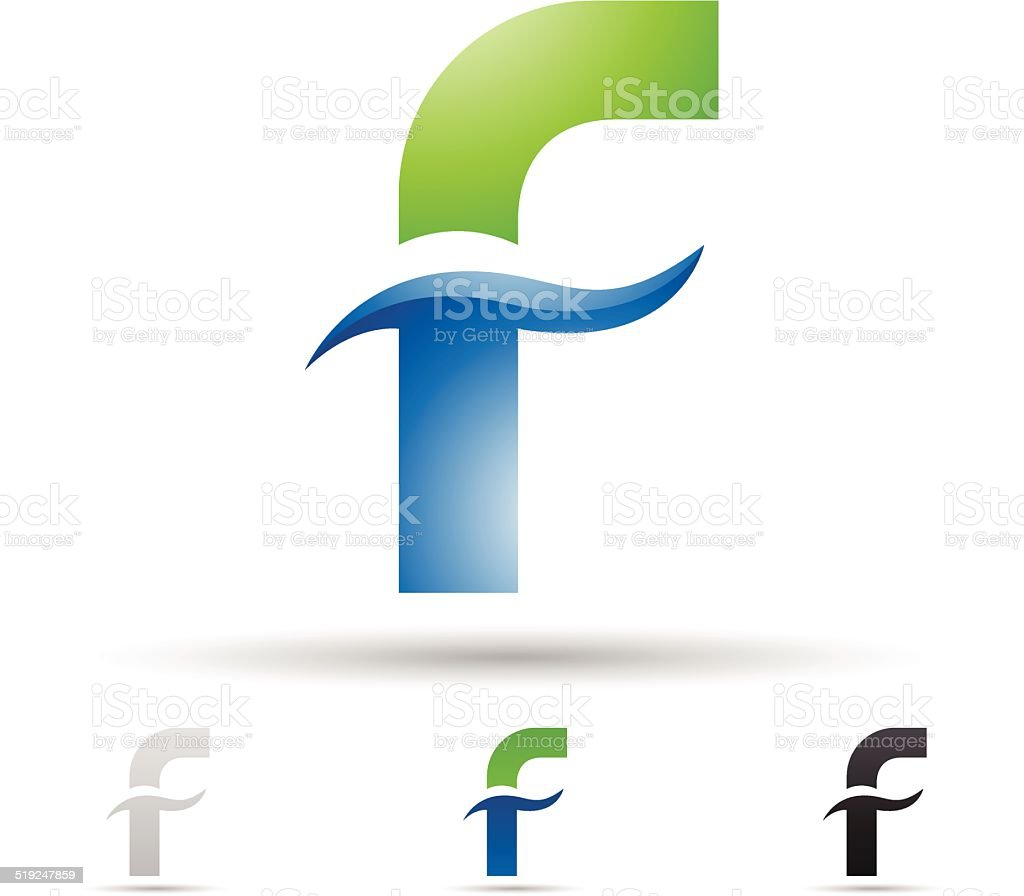 Abstract icon for letter F vector art illustration
