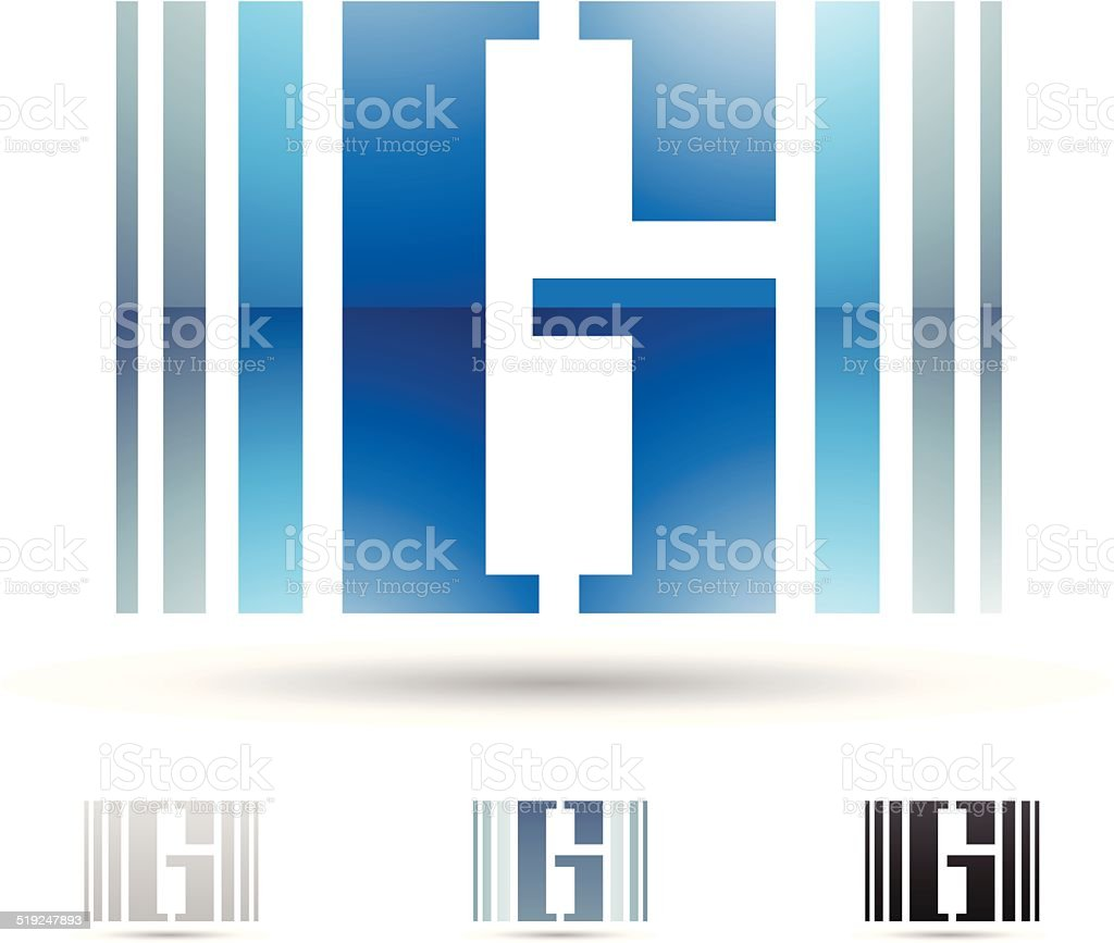 Icône abstraite pour la lettre G stock vecteur libres de droits libre de droits