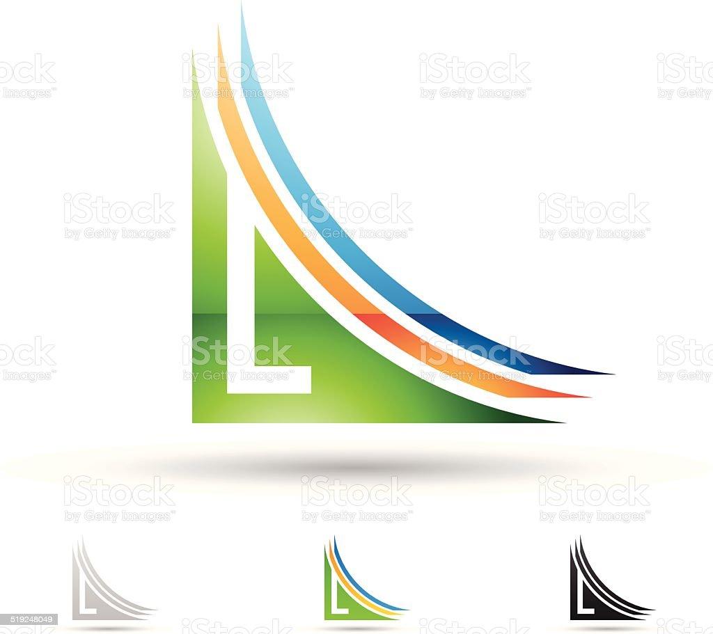 Icône abstraite pour la Lettre L stock vecteur libres de droits libre de droits