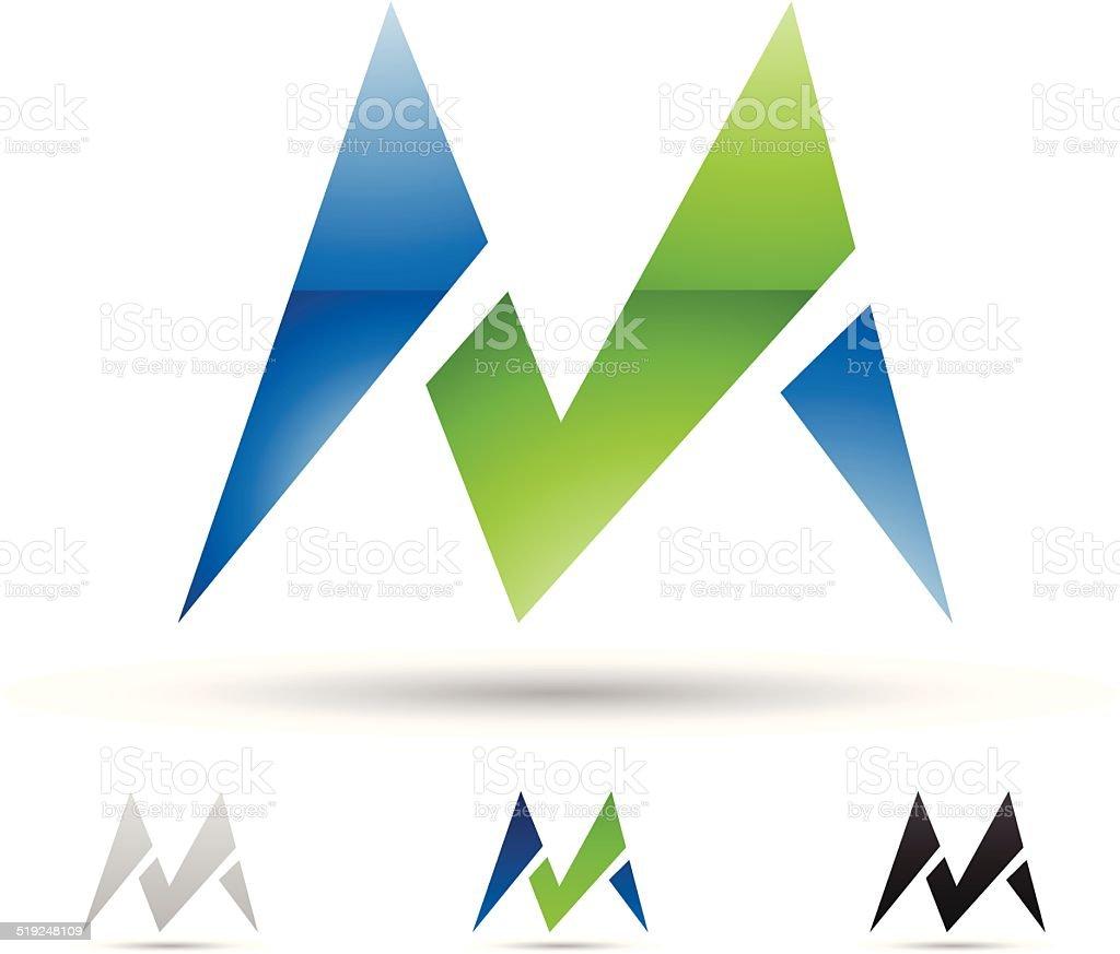 Icône abstraite pour la lettre M stock vecteur libres de droits libre de droits