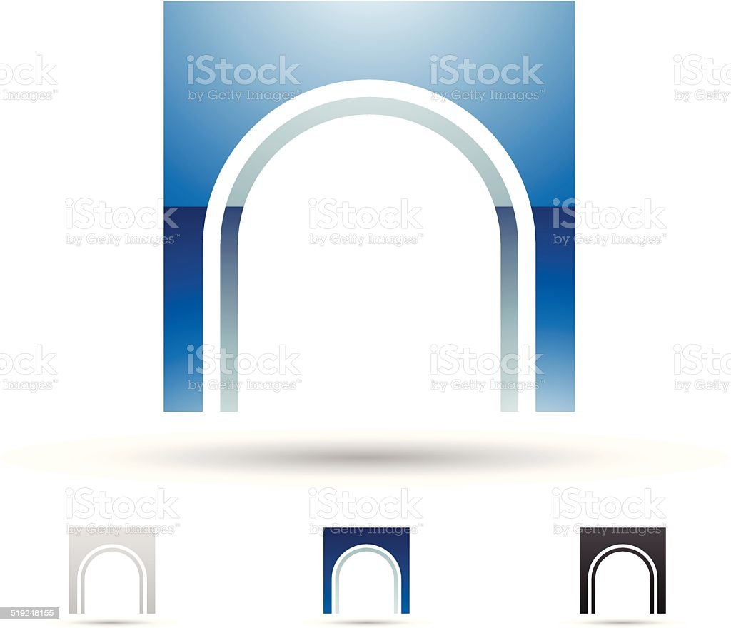 Icône abstraite pour la lettre N stock vecteur libres de droits libre de droits