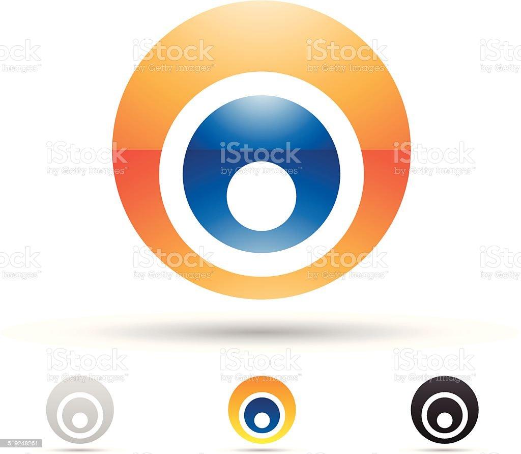 Icône abstraite pour la Lettre O stock vecteur libres de droits libre de droits