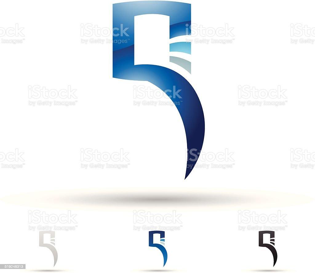 Icône abstraite pour la Lettre Q stock vecteur libres de droits libre de droits