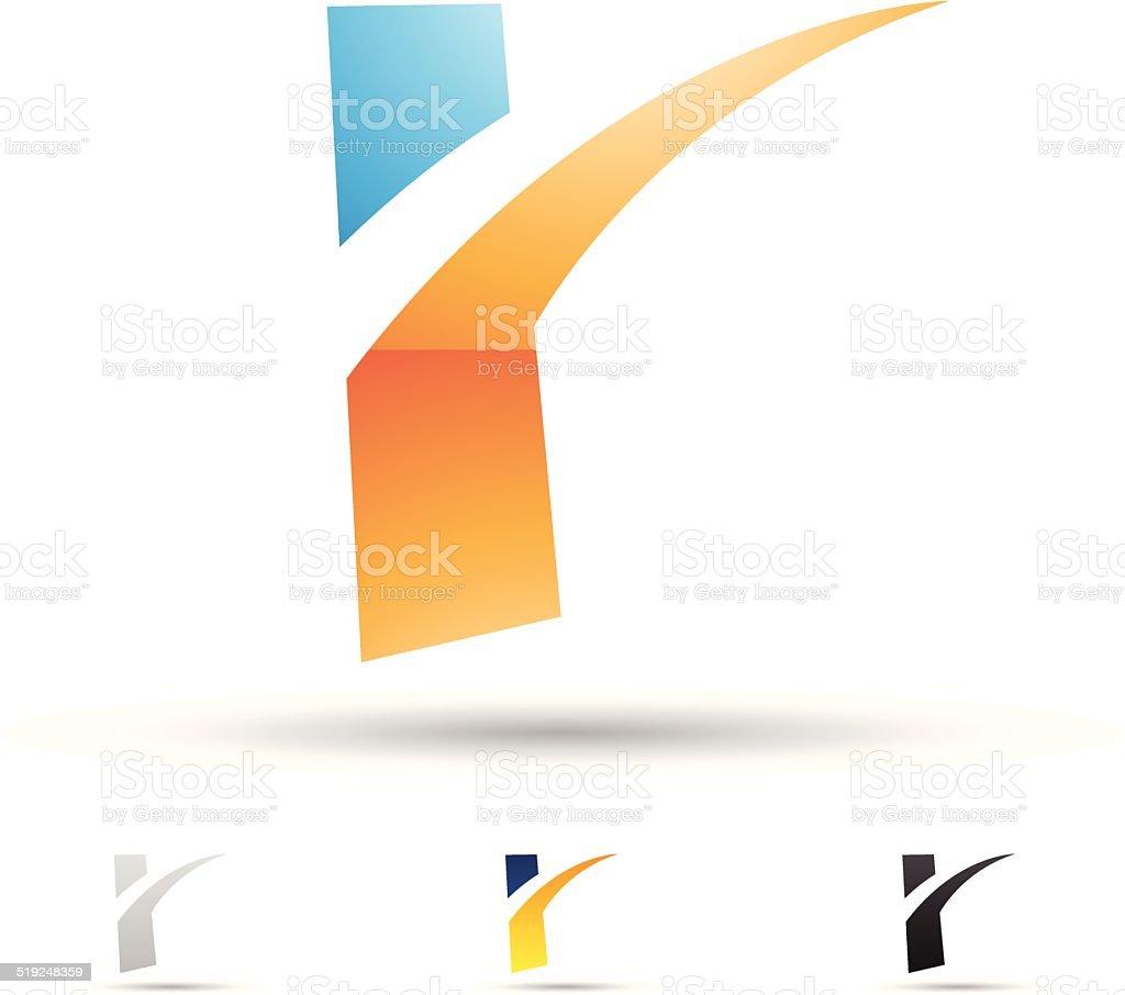 Icône abstraite pour la lettre R stock vecteur libres de droits libre de droits