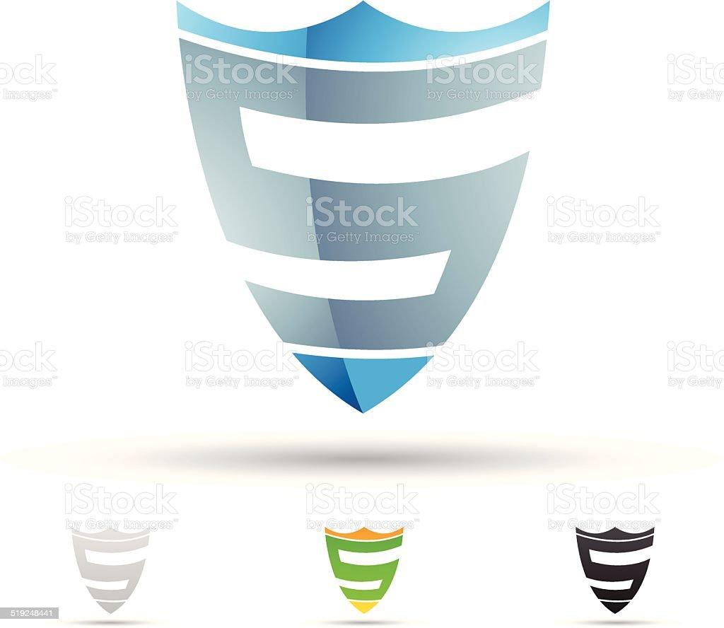 Icône abstraite pour la lettre S stock vecteur libres de droits libre de droits