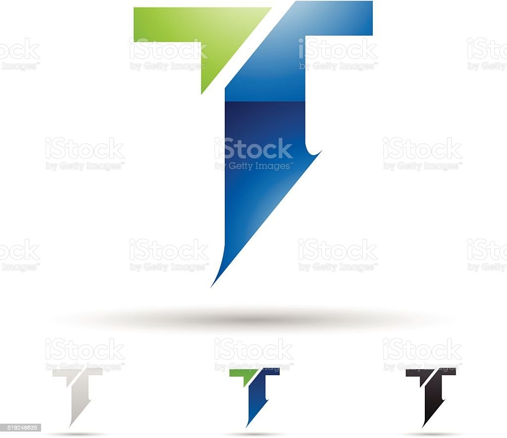 Abstract icon for letter T vector art illustration