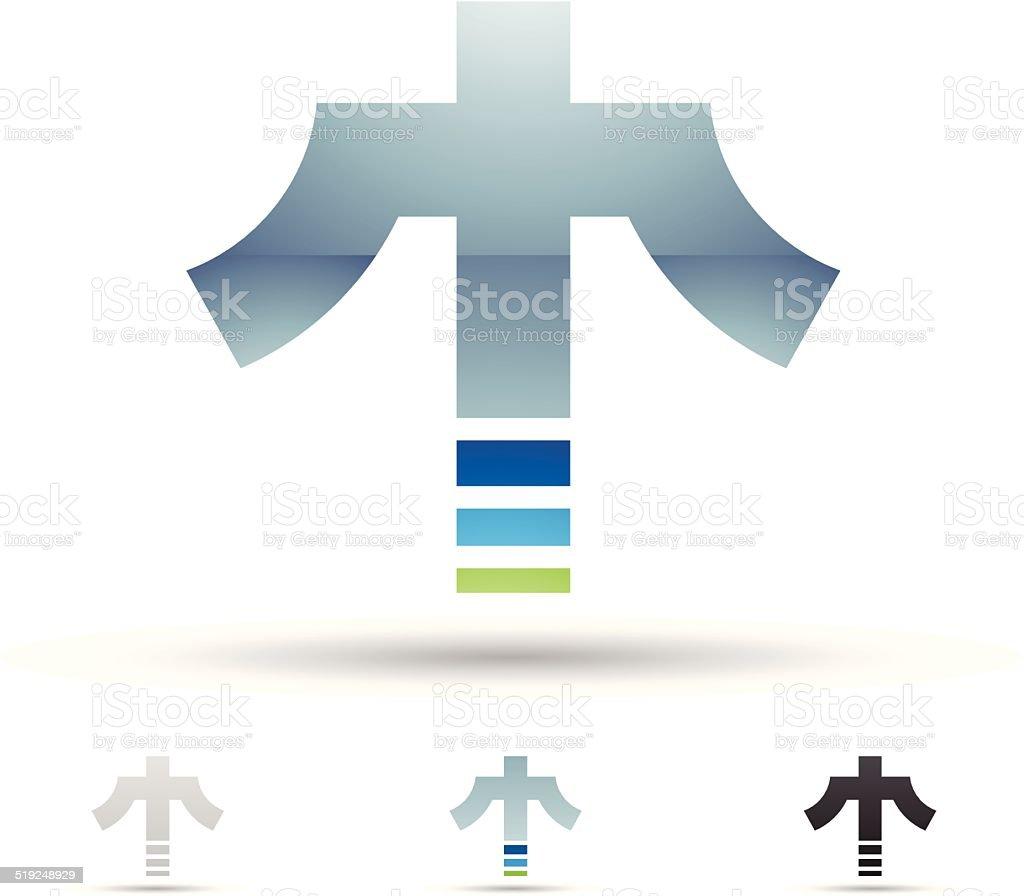 Icône abstraite pour la Lettre T stock vecteur libres de droits libre de droits