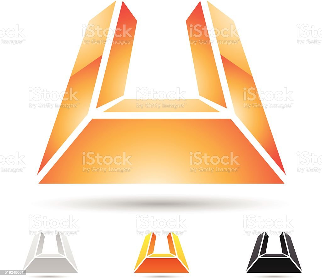 Icône abstraite pour la Lettre U stock vecteur libres de droits libre de droits