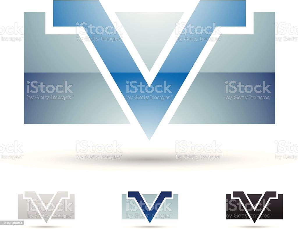 Icône abstraite pour la Lettre V stock vecteur libres de droits libre de droits