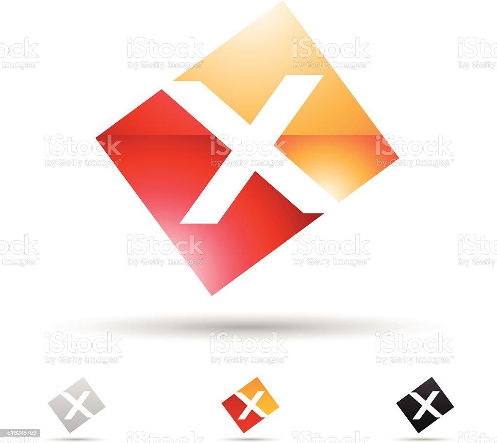 Icône abstraite pour la lettre X stock vecteur libres de droits libre de droits