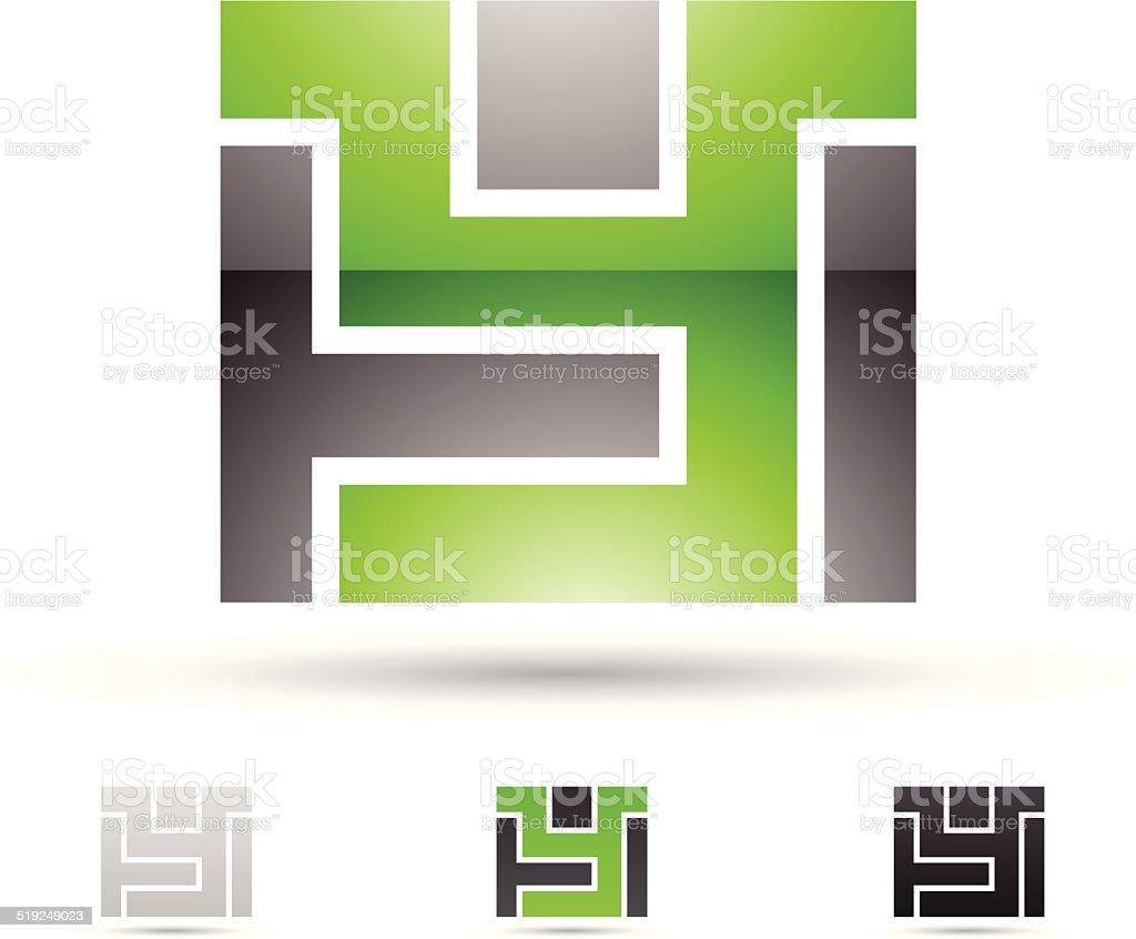 Icône abstraite pour la Lettre Y stock vecteur libres de droits libre de droits