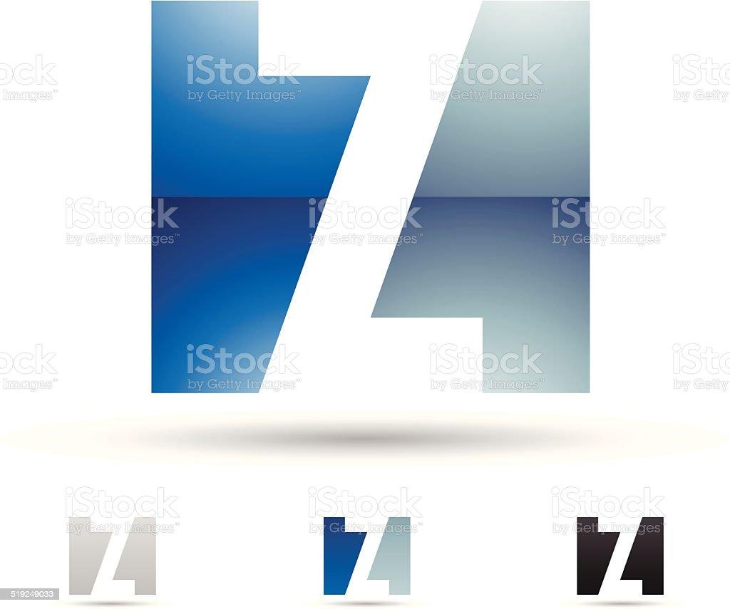 Icône abstraite pour la lettre Z stock vecteur libres de droits libre de droits