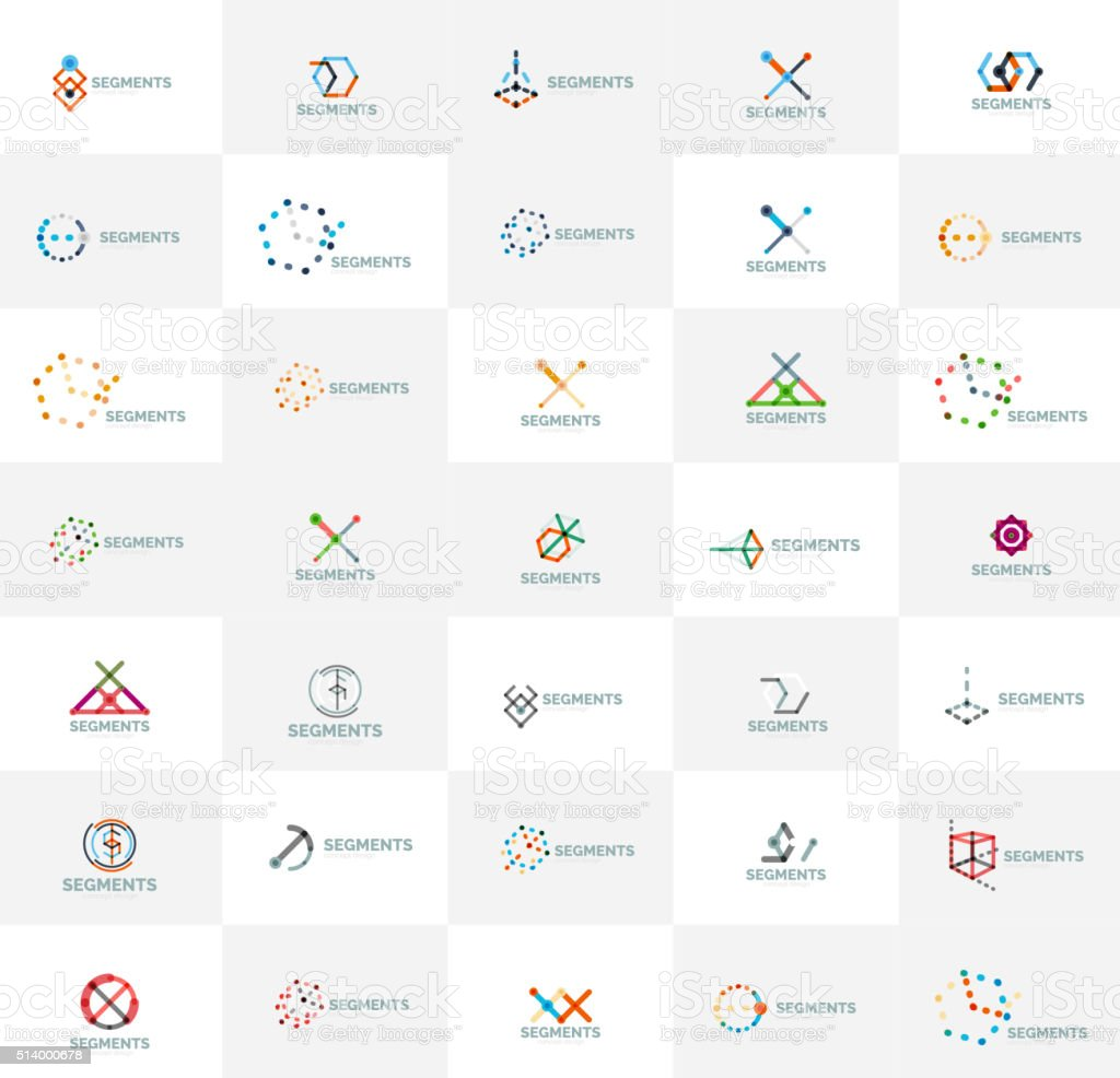 Abstract icon set vector collection. Set of thin line design vector art illustration