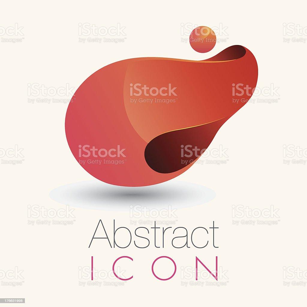 3D Abstract icon vector art illustration
