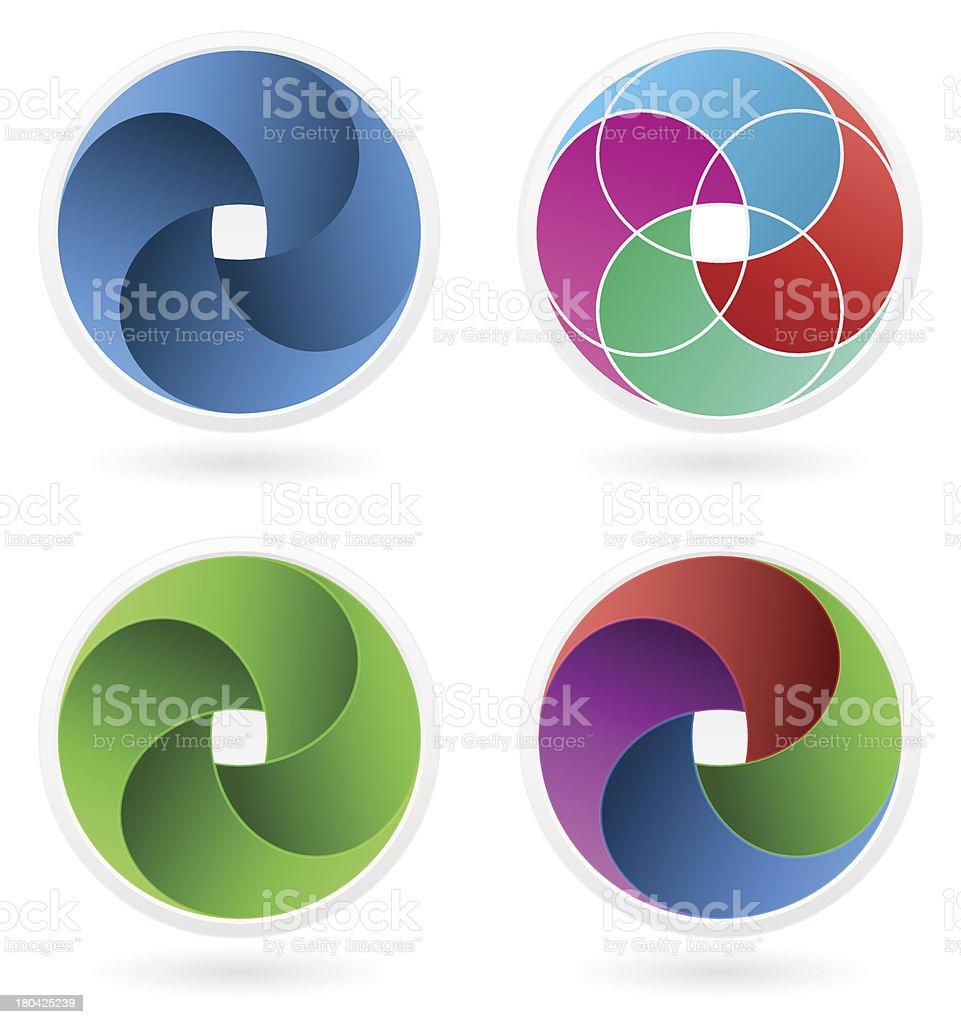 Abstract icon vector art illustration