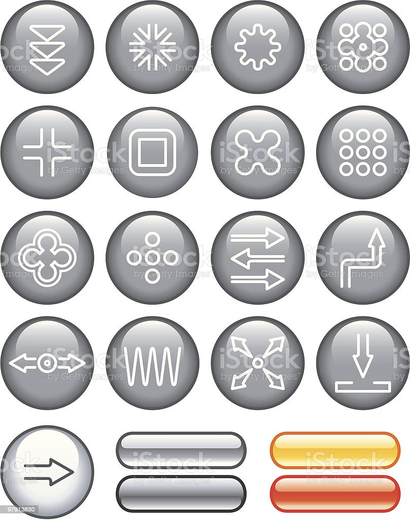 Abstract Icons Set royalty-free stock vector art