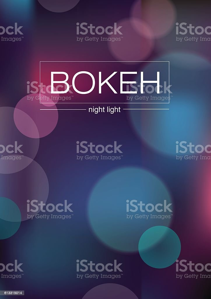Abstract illustration - blurred Lights with bokeh effect vector art illustration