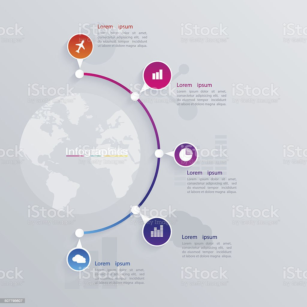 Abstract illustration Infographic. web design. vector art illustration