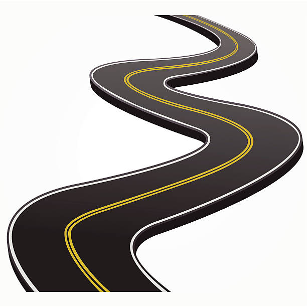 Road Curving Into Distance Clip Art, Vector Images ...