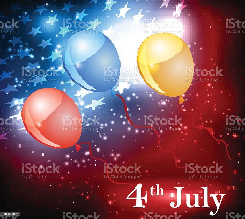 Abstract illustration of American flag vector art illustration