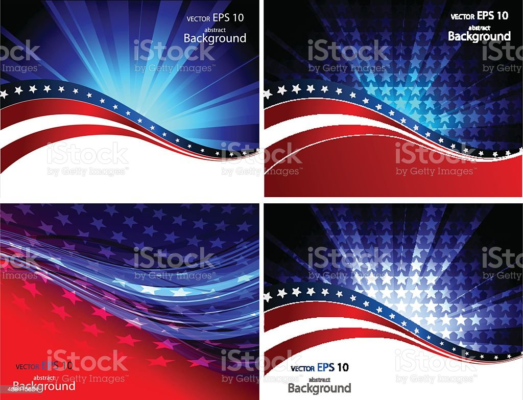 Abstract illustration of American flag vector art illustration