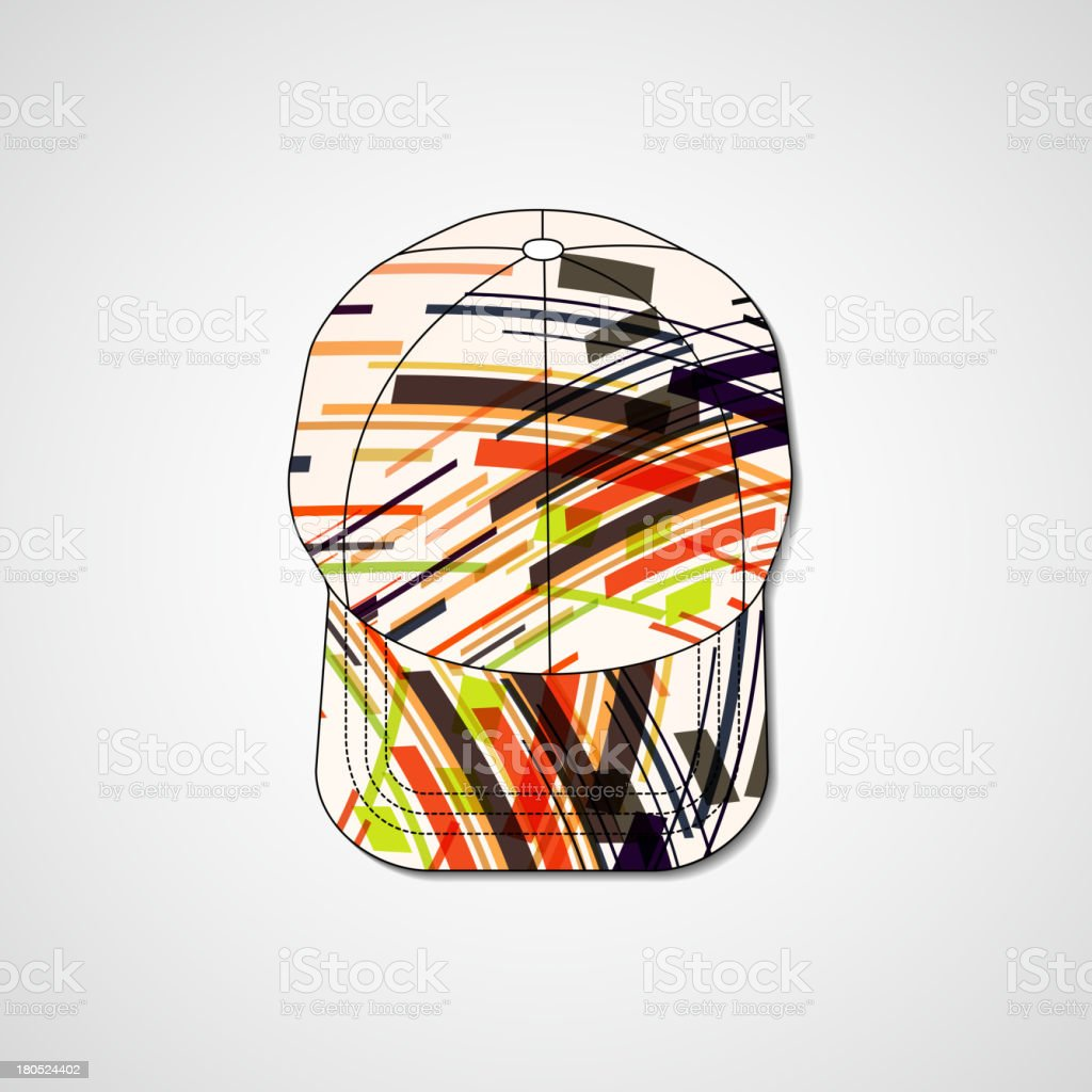Abstract illustration on peaked cap royalty-free stock vector art