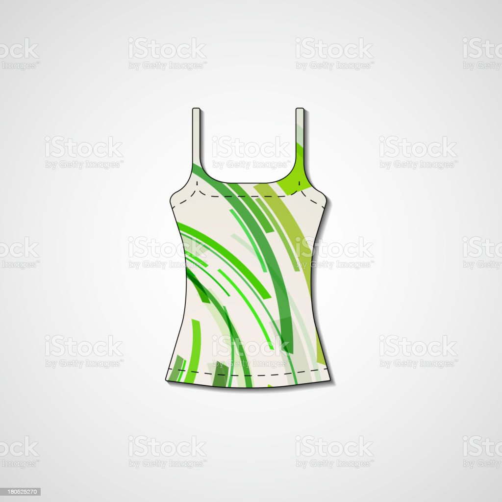 Abstract illustration on singlet royalty-free stock vector art