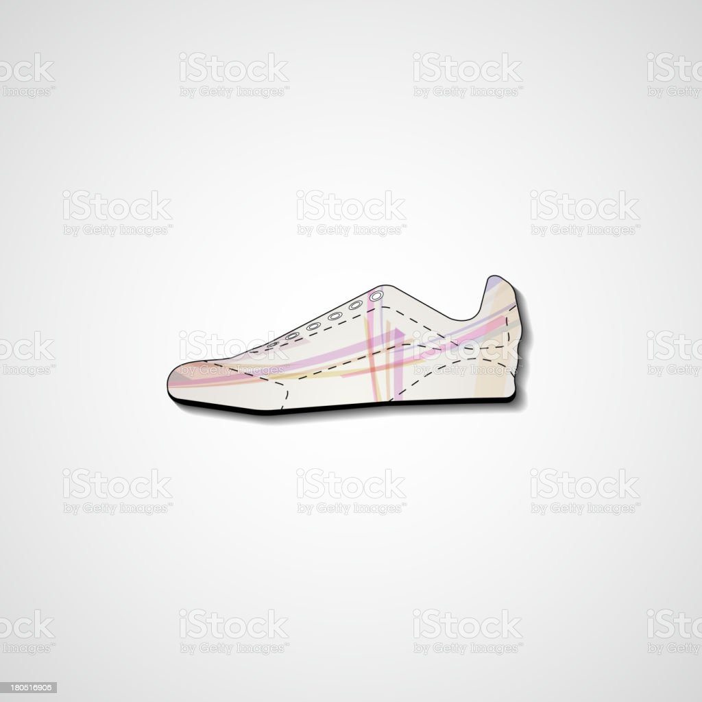 Abstract illustration on sneakers royalty-free stock vector art