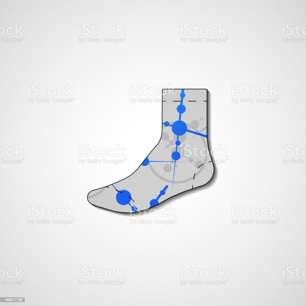 Abstract illustration on sock royalty-free stock vector art