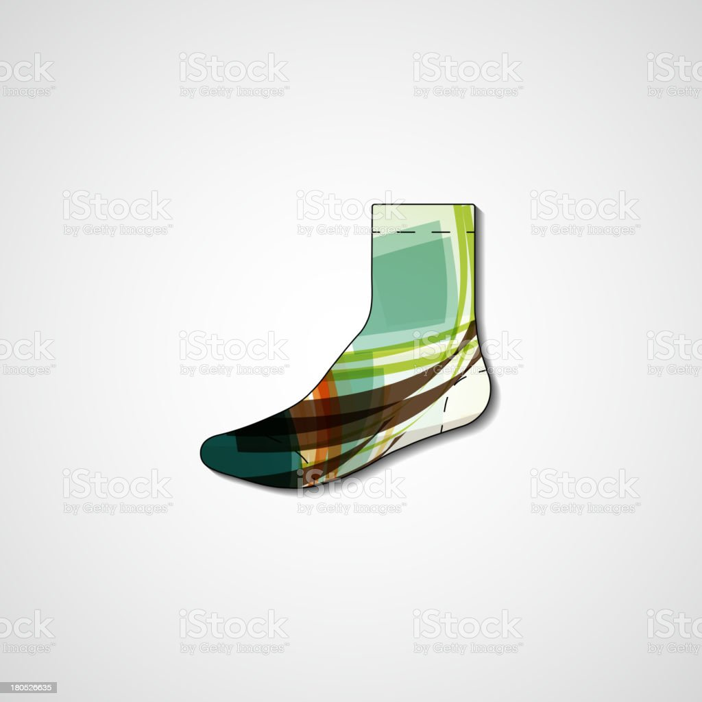 Abstract illustration on sock royalty-free stock vector art