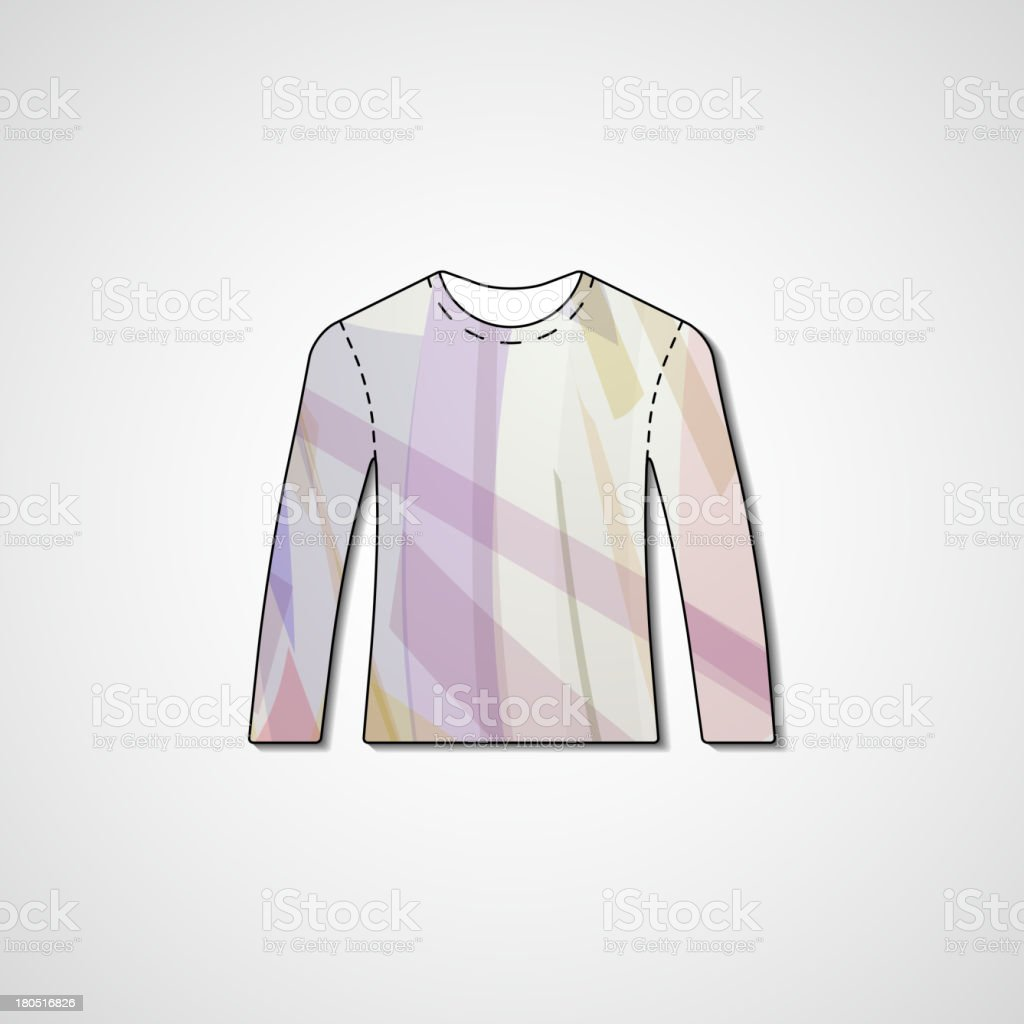 Abstract illustration on sweater royalty-free stock vector art