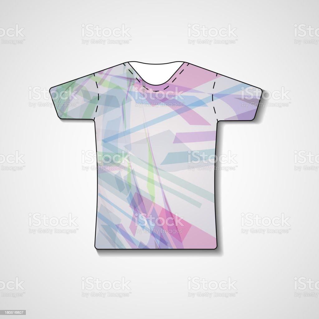 Abstract illustration on t-shirt royalty-free stock vector art