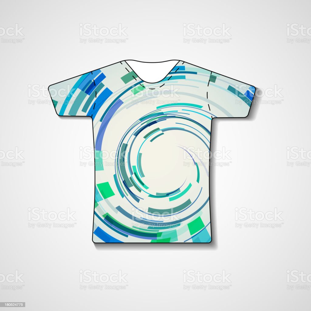 Abstract illustration on t-shirt royalty-free stock vector art