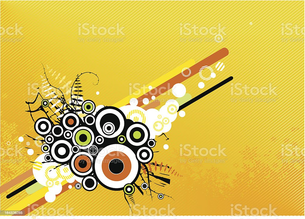 Abstract illustration with circles. Vector royalty-free stock vector art