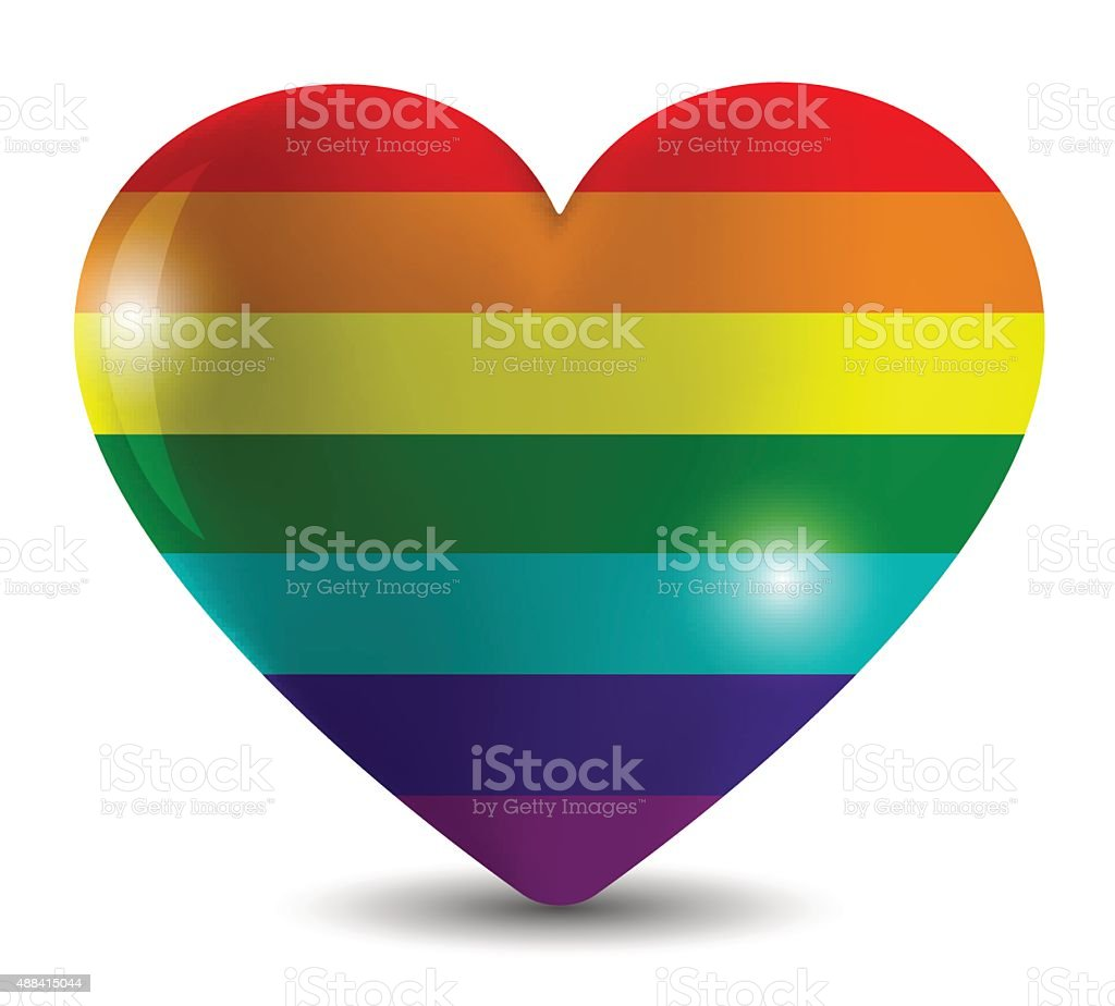 Abstract image   flag of the LGBT community, colors  rainbow vector art illustration