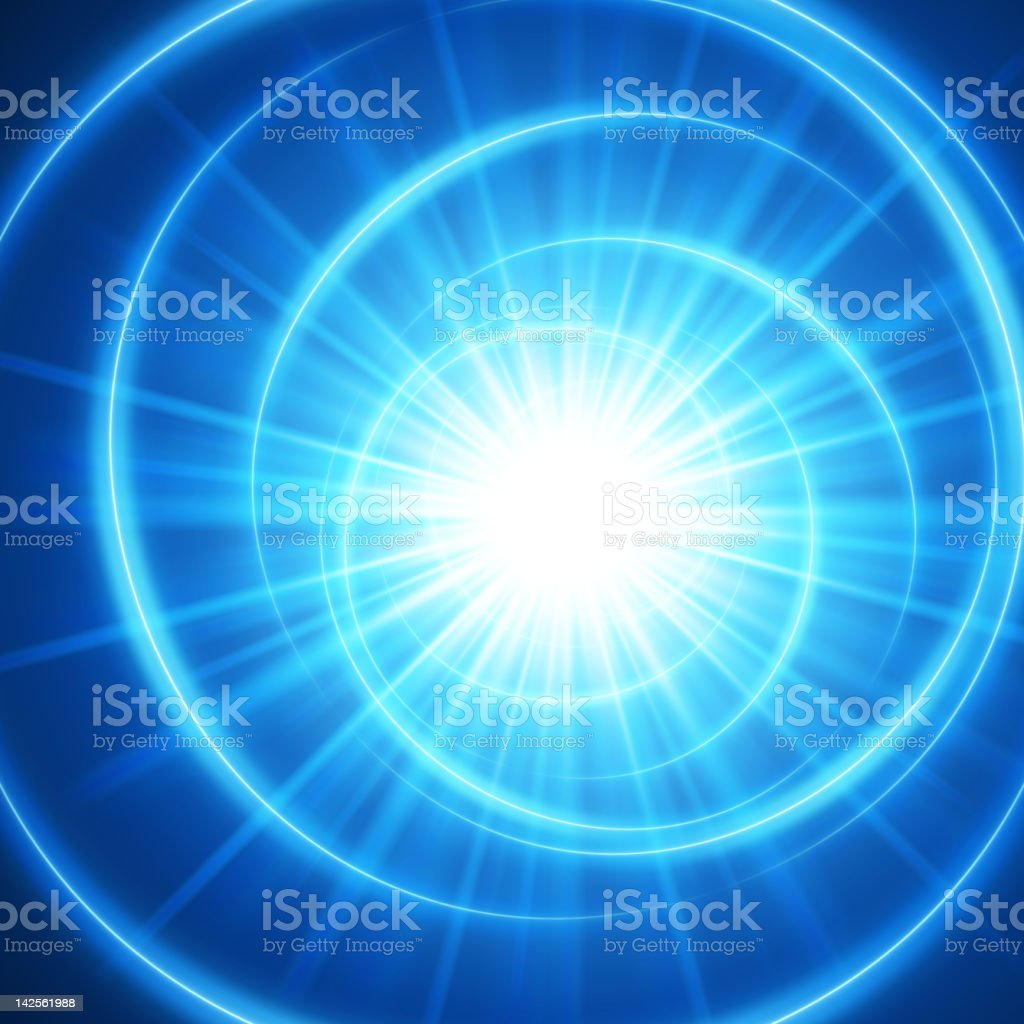 Abstract image with blue spirals and streaks royalty-free stock vector art