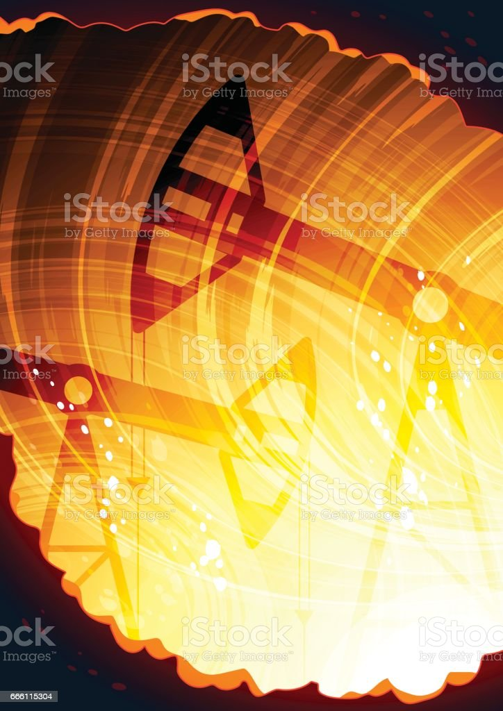 Abstract industrial background vector art illustration