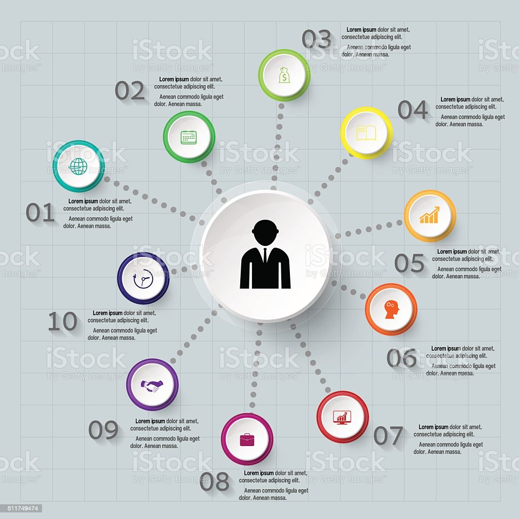 Abstract Infographic design on the grey background. vector art illustration